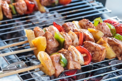brochettes' barbecue sain